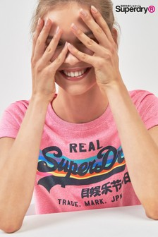 Superdry Pink Rainbow Tee