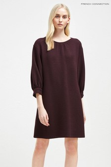 French Connection Purple Balloon Sleeve Dress