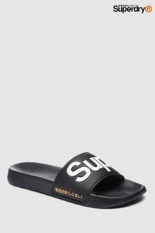 99ad02761cd8 Superdry Black Pool Slider