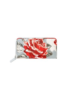 Cath Kidston® Blue Continental New Rose Zip Wallet