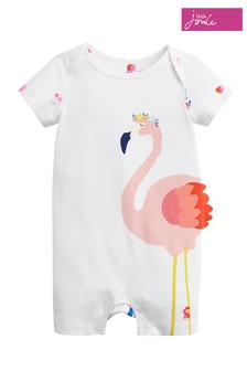 Joules White Mindy 3D Novelty Babygrow