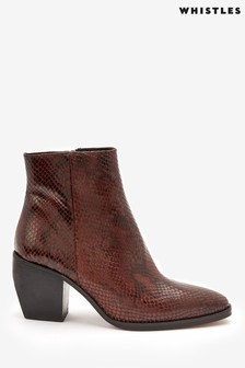 Whistles Black Snake Effect Western Boots