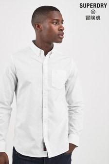 Superdry White Long Sleeve Shirt