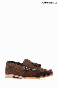 Base London® Brown Suede Tempus Loafer