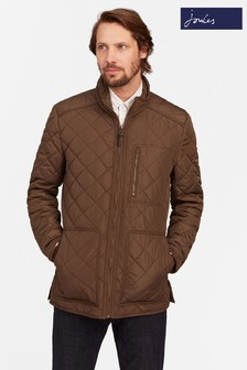 Joules Brown Longer Length Quilted Jacket