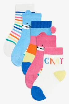 Bright Ankle Socks Five Pack (Younger)