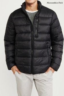 Abercrombie & Fitch Black Padded Jacket