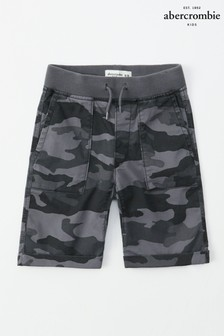 Abercrombie & Fitch Black Camo Short