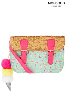Monsoon Vera Ice Cream Sequin Satchel And Charm