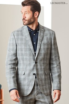 Leomaster Signature Check Linen Suit