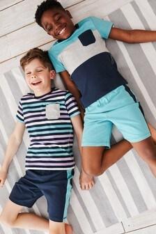 Набор из 2 пижам с шортами (3-16 лет)