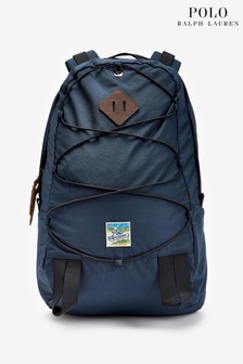 Polo Ralph Lauren Navy Logo Nylon Backpack