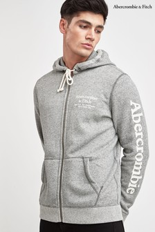 Abercrombie & Fitch Grey Sweat Logo Zip