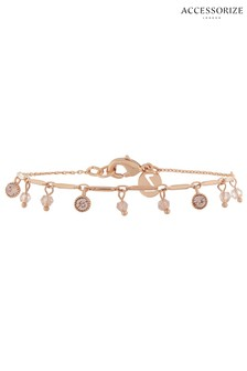Z for Accessorize Rose Gold Stone Charm Swarovski® Bracelet