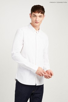Chemise en popeline stretch French Connection blanche