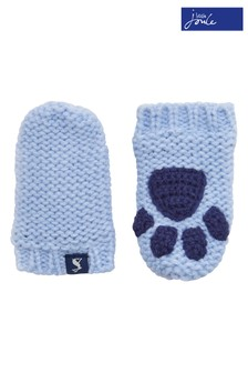 Joules Sky Blue Knitted Mittens