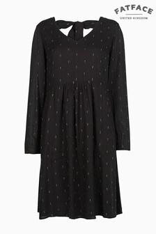 FatFace Black Copper Cilla Metallic Dress