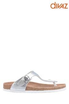 Divaz Silver Ziggy Sandals