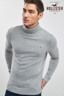 Hollister Grey Roll Neck Knitwear