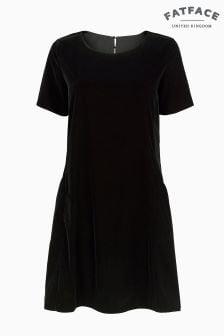 FatFace Black Copper Velvet Simone Dress