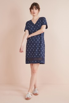 f78f13e6af Linen Blend T-Shirt Dress