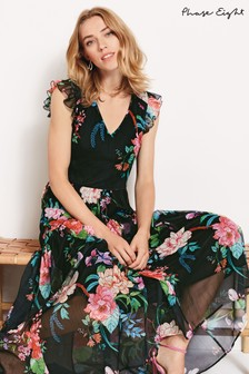 Phase Eight Black Isadora Gypsy Floral Maxi Dress
