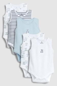 Unterhemden mit Bärenmotiv, Fünferpack (0Monate bis 2Jahre)