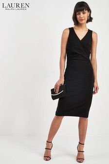 Lauren Ralph Lauren® Black Sleeveless Wrap Dress