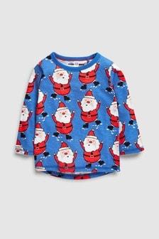 Long Sleeve Santa Printed T-Shirt (3mths-6yrs)