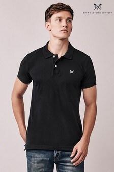 Crew Clothing Black Slim Fit Pique Polo
