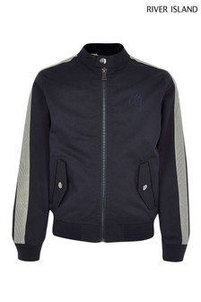 River Island Navy Zip Through Jacket