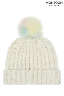 Monsoon Natalie Rainbow Sequin Bobble Hat