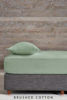 Spannbettlaken aus gebürsteter Baumwolle