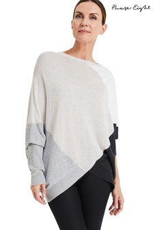 Phase Eight Neutral Charlize Colourblock Knit Jumper