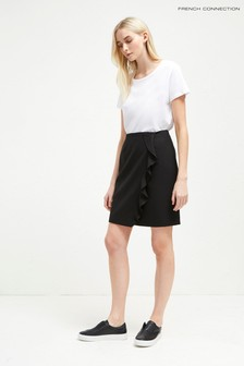 French Connection Black Frill Skirt