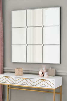 Glass Windowpane Mirror