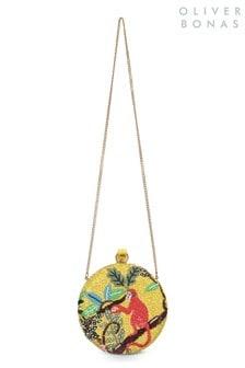 Oliver Bonas Mina Monkey Clutch-Tasche, Gelb