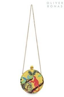 Oliver Bonas Yellow Mina Monkey Clutch Bag