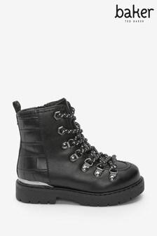 Baker by Ted Baker Black Hiker Boots