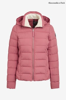 Abercrombie & Fitch Pink Hooded Padded Jacket