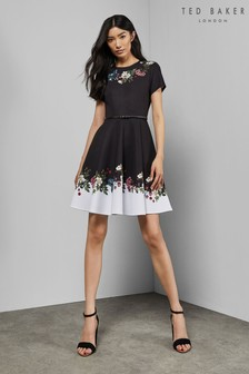 0d02f7aa7cf5 Ted Baker Black Chestna Oracle Skater Dress