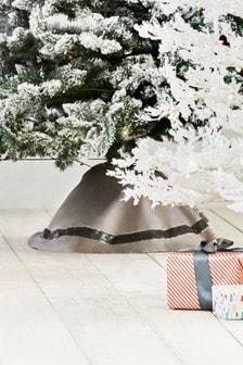 Obrus pod choinkę bożonarodzeniową zdobiony cekinami
