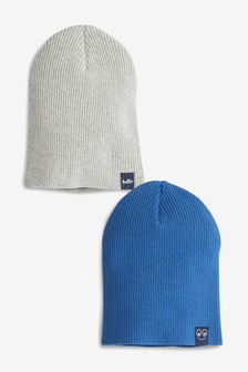 2 Pack Rib Beanies (Younger)