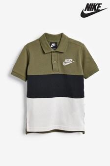 Nike Khaki/Black Polo