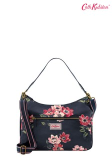 Cath Kidston® Blue Anemone Bouquet Curve Shoulder Bag