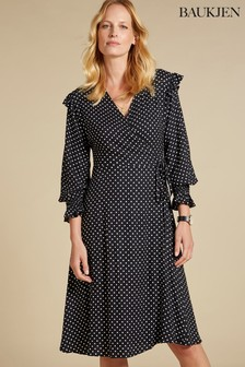 Baukjen Black Polly Wrap Dress