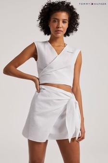 Tommy Hilfiger White Beach Club Cropped Shirt