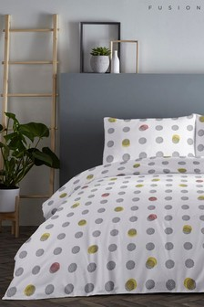 Fusion Spots Duvet Cover and Pillowcase Set