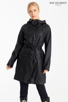 Czarny płaszcz przeciwdeszczowy Ilse Jacobsen