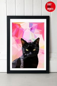 Black Cat by Studio Cockatoo Framed Print